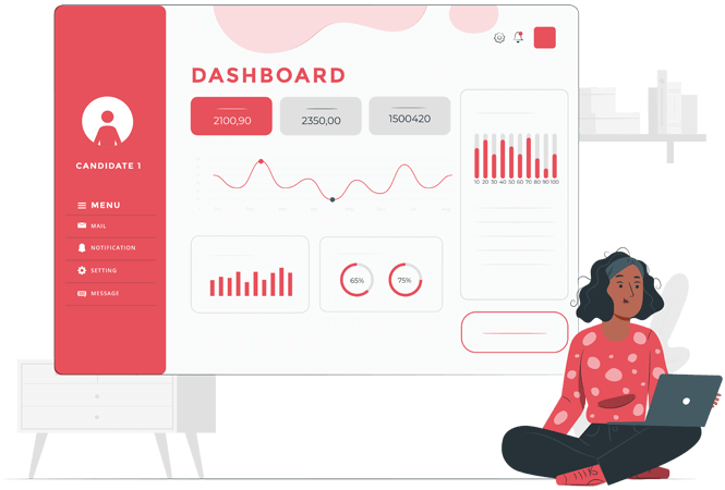 Candidate Dashboard tailored for your prospects